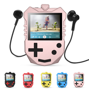 Details zu Kinder MP3 Player 8GB Musik Player Sprachaufnahme Rosa