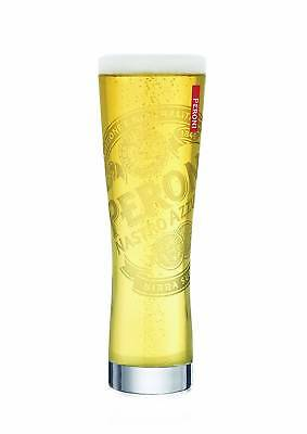 PERONI SIGNATURE TUMBLER 4 BEER PINT GLASSES NEW 41cl