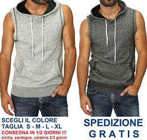 Smanicato-da-Uomo-Cappuccio-con-Laccetti-Regular-Fit-T-Shirt-Smanicata-in-Maglia