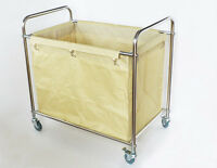Commercial Hotel Home Clothes Hamper Laundry Cart With Casters&canvas Bag