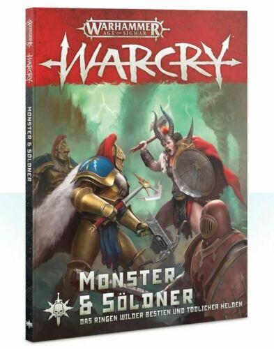 games workshop Mercury WARHAMMER Age of Sigmar warcry Monstre /& mercenaires allemand