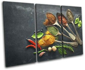 Spices-Herbs-Cooking-Food-Kitchen-TREBLE-CANVAS-WALL-ART-Picture-Print