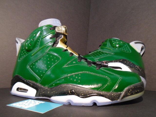 Nike Air Jordan VI 6 Retro CHAMPIONSHIP CHAMPAGNE PINE GREEN RED gold BLACK 13