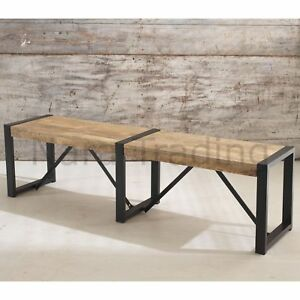Astounding Details About Harbour Indian Reclaimed Wood And Metal Furniture Large Dining Bench Spiritservingveterans Wood Chair Design Ideas Spiritservingveteransorg