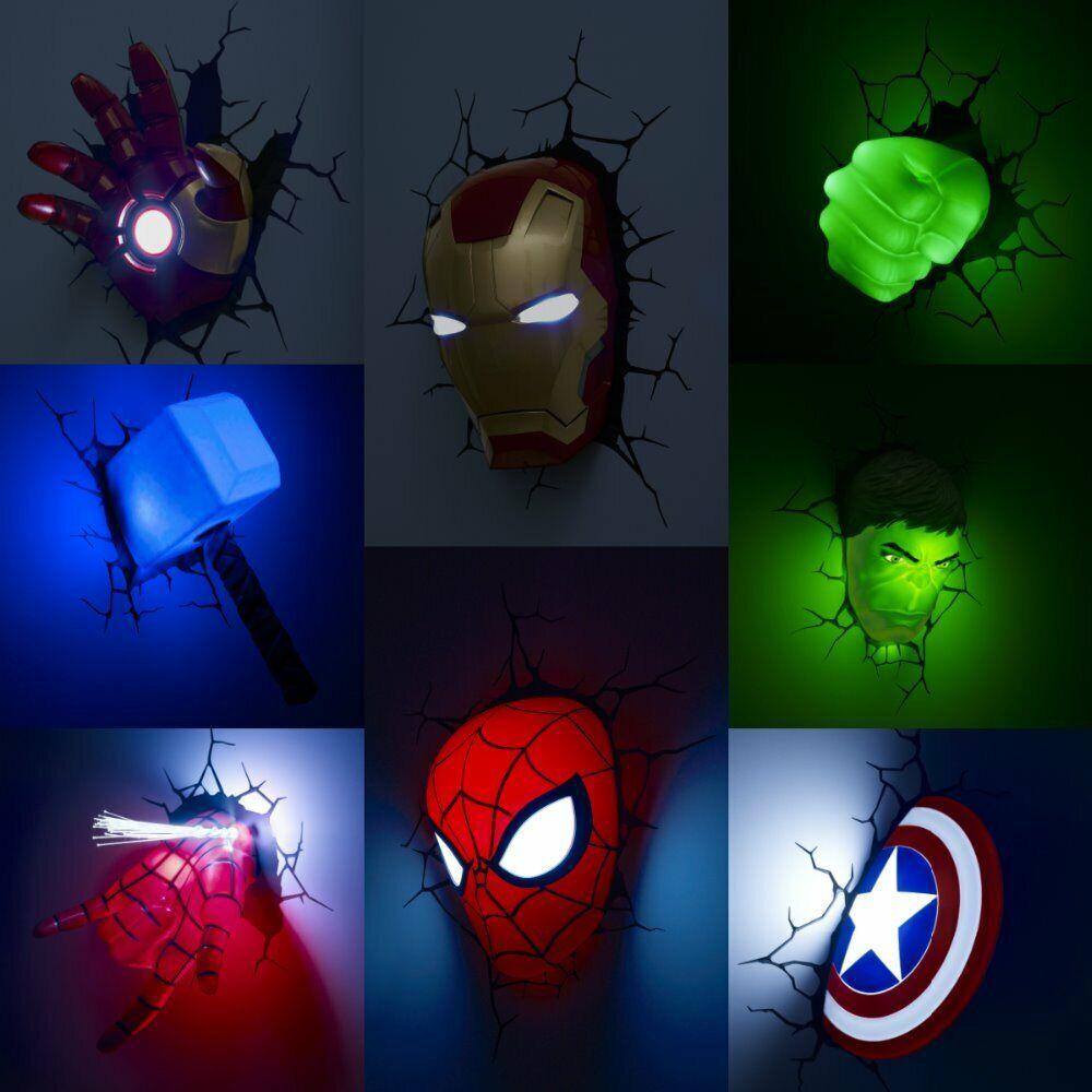 Milagro lámpara de parojo hombre araña gigante verde capitán capitán capitán luz nocturna niño América d14