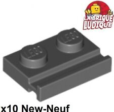LEGO NEW Black Plate Modified 1x2 w// Clip on Top Lot x20 Star Wars Parts 92280