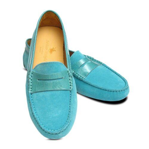 Turquoise Daim /& Cuir Verni Femmes CREATEUR Chaussures Arthur Knight