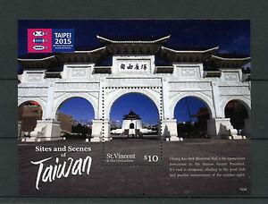 Doux St Vincent Et Grenadines 2015 Neuf Sans Charnière Sites Scènes Taiwan 1v S / S Tchang Kaï-chek Mem-afficher Le Titre D'origine