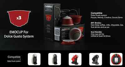 Refillable Reusable DOLCE GUSTO Coffee Capsules for Nescafe FREE WORLD SHIPPING