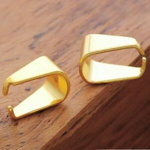 50PCS-LOT-Stainless-Steel-Gold-Plated-Pinch-Bails-Dangle-Charms-Jewelry-Findings