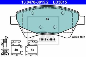 ATE 13.0470-3815.2 Bremsbelagsatz Scheibenbremse ATE Ceramic