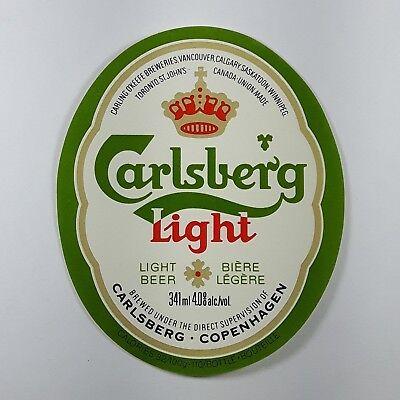 Carlsberg Light Beer Bottle Label Carling O'Keefe ...