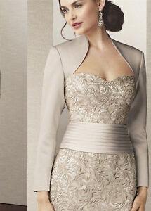 Image Is Loading Satin Long Sleeves Women 039 S Jacket Wedding