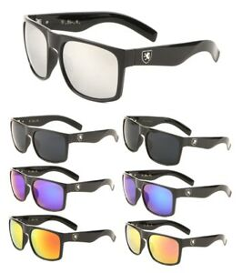0d473a1d2d Image is loading KHAN-SQUARE-OVERSIZED-CLASSIC-CASUAL-MENS-SUNGLASSES-RETRO-