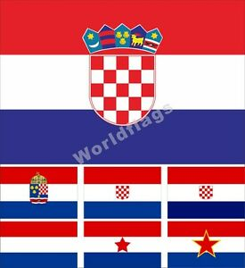 Croatia Flag 3X5FT Historical National Croatia-Slavonia CoA Kingdom Banate