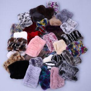 Women-Real-Rex-Rabbit-Fur-Handmade-Headbands-Girl-Ring-Cowl-Snood-Scarves-Winter