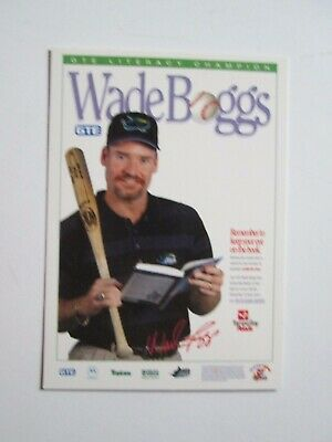 24K Gold Signature Card Tampa Bay Devil Rays Authentic Images Wade Boggs