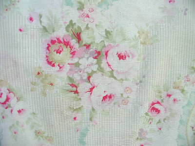 Yuwa Vintage Inspired Cameo Ribbons Roses Pink Yd. #2B