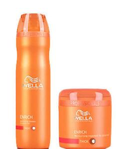 Wella Professional Enrich Moisturizing Treatment Shampoo And Masque -Combo