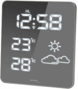 Radio-station météo technoline ws 6825 Blanc LED radio-horloge thermomètre incl. station  </span>