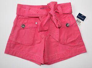 Ralph-Lauren-Girls-Shorts-Pink-Belted-Size-4-NWT