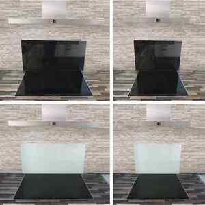 Glasrückwand Küchenrückwand Wandverkleidung Spritzschutz weiß ...