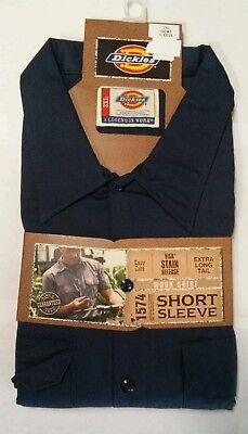 Dickies 1574 2-pack Men/'s Short Sleeve Work Shop Mechanics Shirt S M L XL-5XL