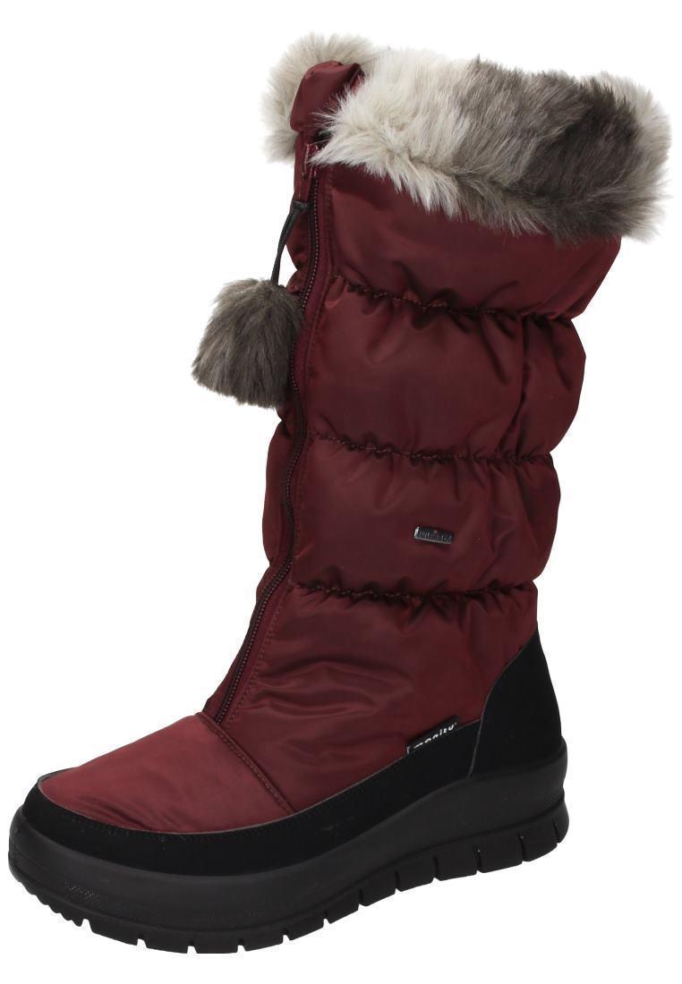 Manitu 991174-41 snowbotas botas de invierno con forro cálido Zapatos señora rojo neu25