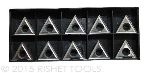 RISHET TOOLS TCMT 32.52 C5 Uncoated Carbide Inserts 10 PCS