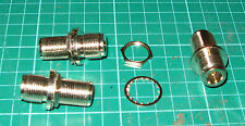 ONE N type Female to Female bulkhead fitting Connector 50 ohm TOP QUALITY 16mm