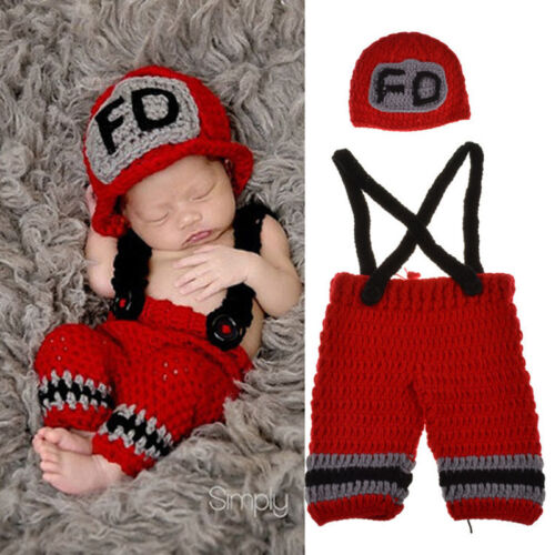 Cute Newborn Baby Kid Girls Crochet Knit Costume Photo Photography Prop Outfits