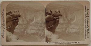 Yosemite Ghiacciaio Punto US USA Foto Stereo Vintage Albumina