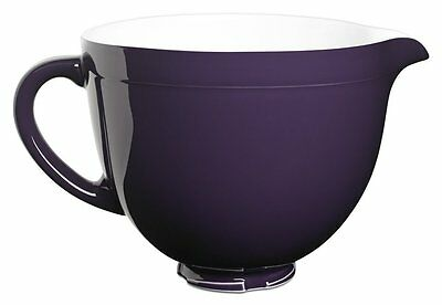 New KitchenAid KSMCB5RP 5-qt Ceramic Mixing Bowl Attachment Purple