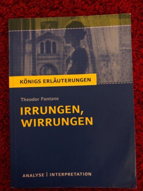 """""""Irrungen und Wirrungen"""" von Theodor Fontane.Königs Erläuterungen und Analyse"""