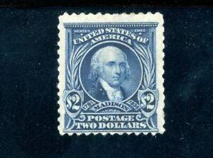USAstamps-Unused-FVF-US-Series-of-1902-2-Madison-Scott-312-OG-MNH