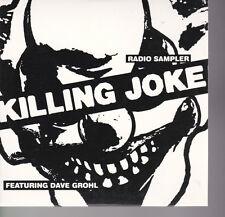 Killing Joke Featuring David Grohl Radio Sampler USA Promo CD 2003
