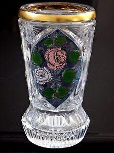 Beau vase cristal Saint Louis peint rose Old crystal painted flowers XIX - France - EBay Ravissant petit vase en cristal de Saint louis, fin XIXmeDécor central peint 15cm de hautUsures d'usage, bon étatEnvoi soigné enrecommandéinternational bidders are welcomeA bientt - France