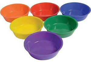 EDX-Education-53842-Sorting-Bowls-Pack-of-6-Rainbow-Colours-Red-Green