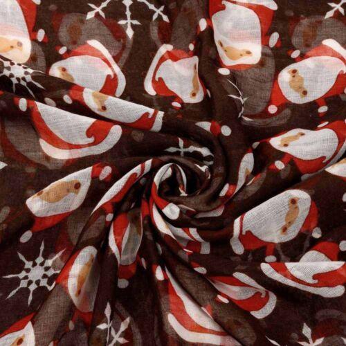 Noël Femmes mignon de Noël Père Noël Imprimé Motif Noël Festif Wrap Châle Écharpe