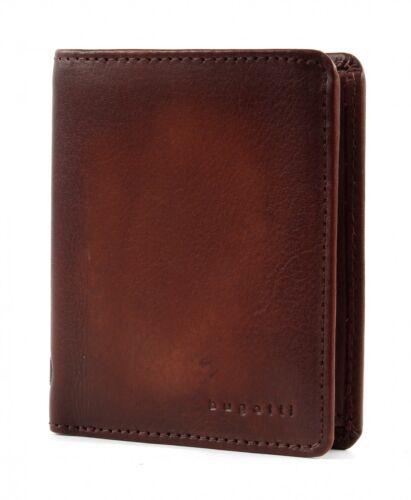 bugatti Domus RFID Wallet With Credit Card Compart S Geldbörse Cognac Braun Neu
