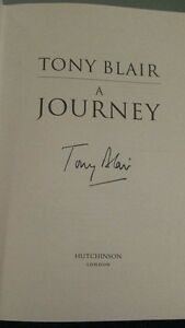 Toni-Blair-signiert-original-A-Journey-Hardcover-Top-Zustand