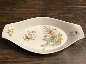 Shafford-Ecstasy-AU-GRATIN-Butterflies-Fine-China-Serving-Dish-Butterfly