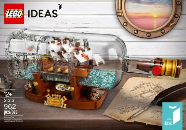 LEGO Ideas Ship in a Bottle Set 21313 Building Kit Collector Display 962 Pieces