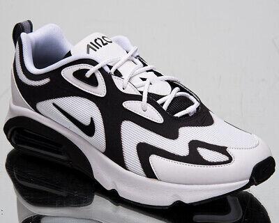 Nike Air Max 200 Homme Bas Blanc Noir Anthracite Décontracté Vie Baskets Shoe | eBay