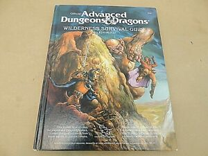 OFFICIAL ADVANCED DUNGEONS & DRAGONS WILDERNESS SURVIVAL GUIDE, TSR 2020, 1986