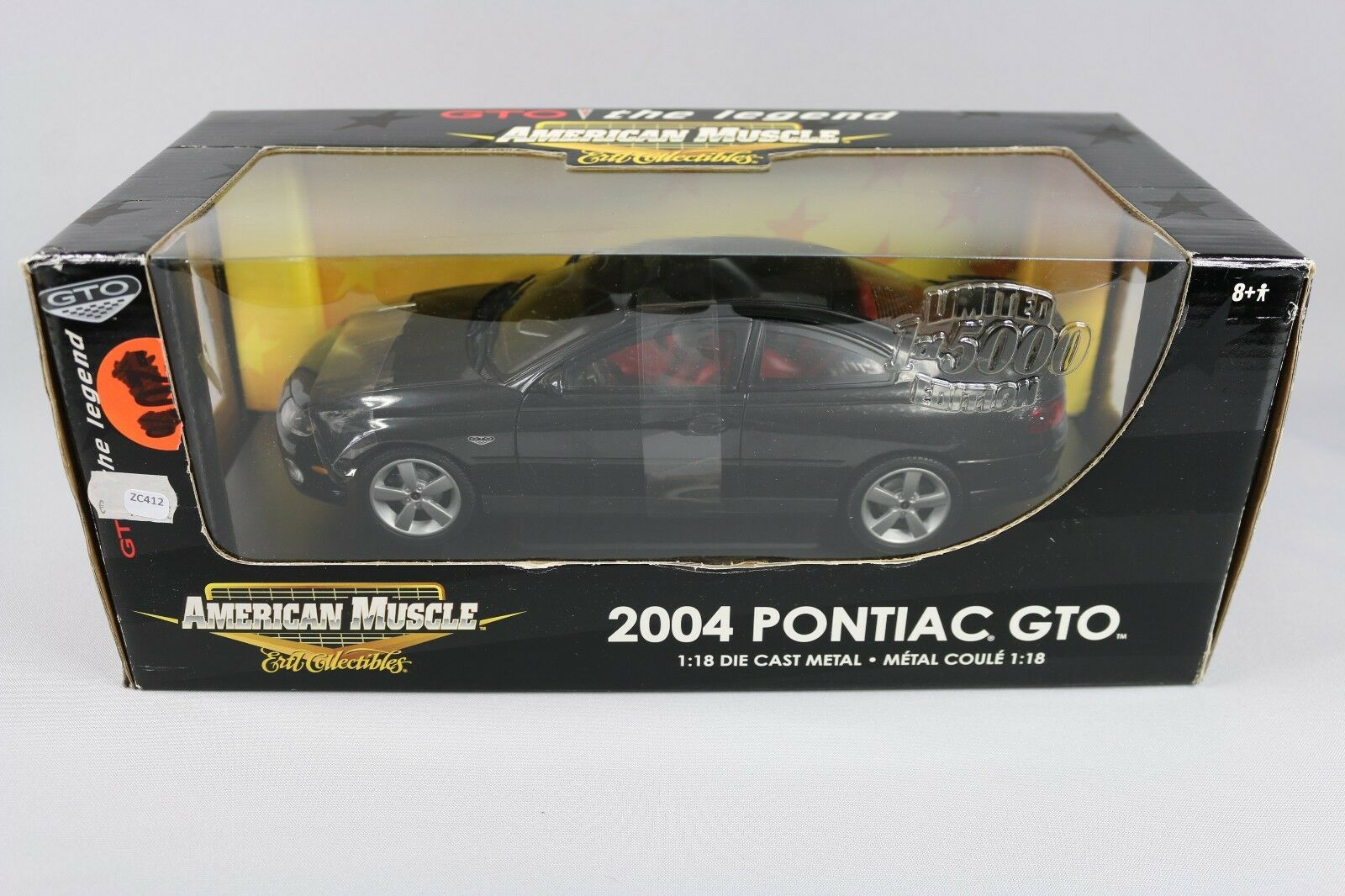 ZC412 Ertl RC2 36678 Voiture Miniature 1 18 Pontiac Gto 2004 American Muscle