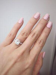 2-50Ct-Cushion-Cut-White-Diamond-Solitaire-Engagement-Ring-14K-White-Gold-Finish