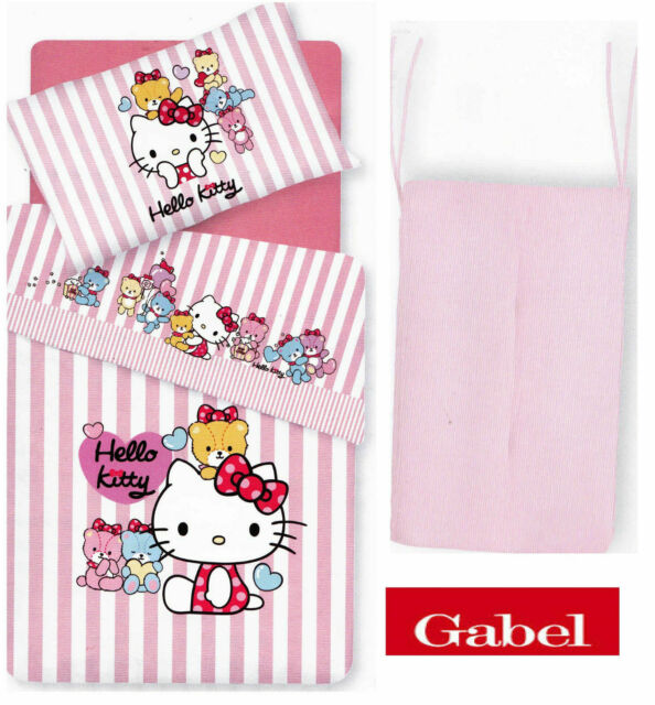 Trapunta Hello Kitty Gabel.Trapunta Invernale Paracolpi Lettino Hello Kitty By Gabel Little Friends