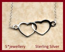 """Solid Real .925 sterling silver Heart chain 16/"""" to 36inch 2.75mm Heart Necklace"""