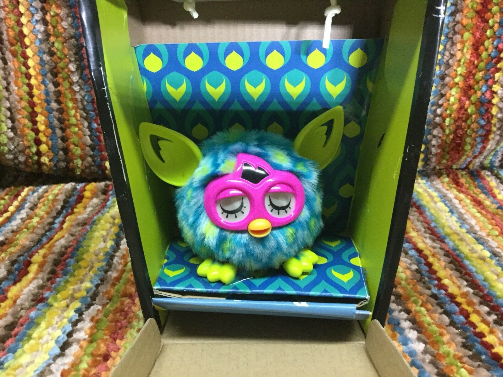 Furby Furblings Teal bluee With Green Dots HASBRO NIB